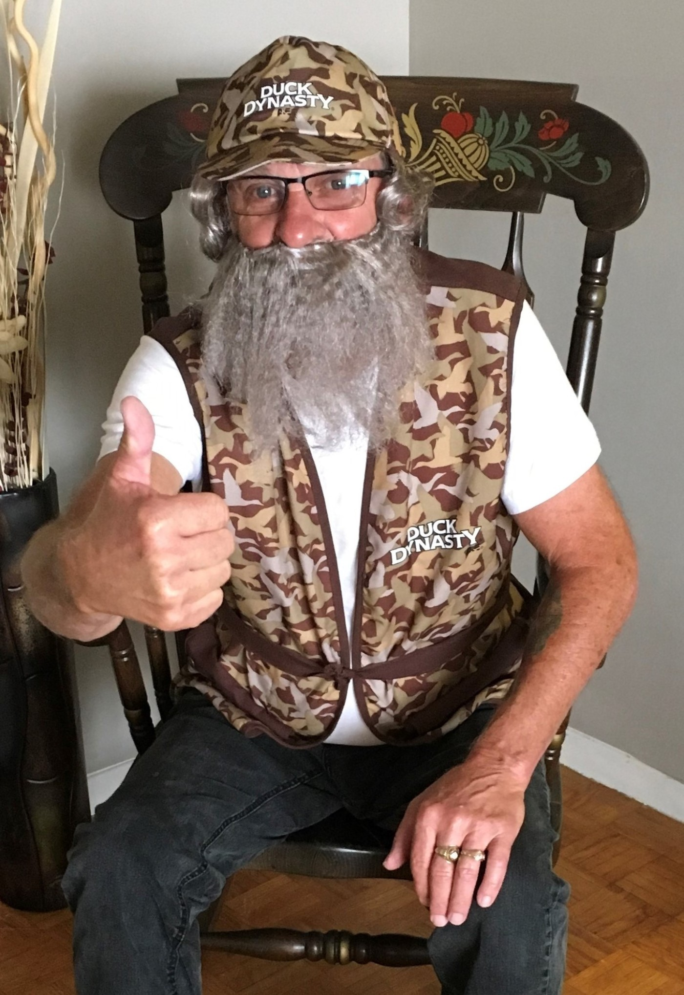 My brother Al dressed as Si from Duck Dynasty