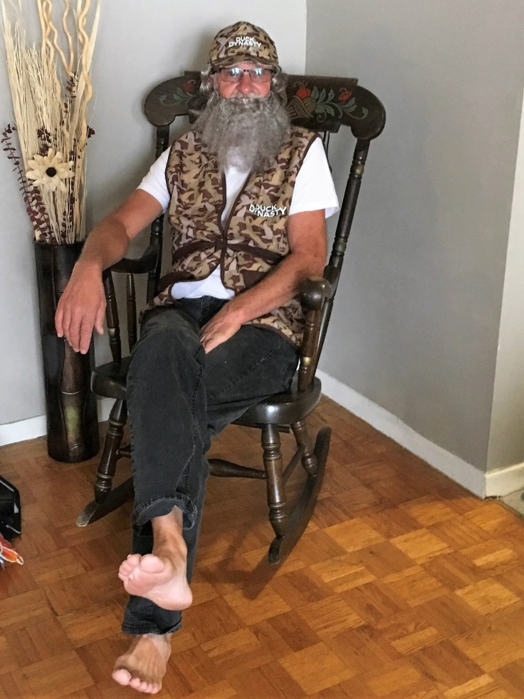 my mother's birthday party, brother dressed up as Sye from Duck Dynasty