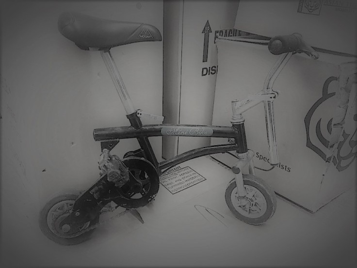 Cee's black and white photo challenge mini bike